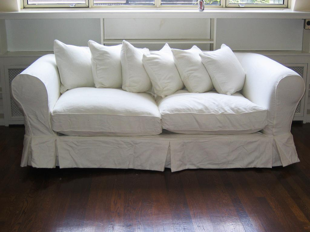 White loveseat slipcover home furniture design Loveseats with console