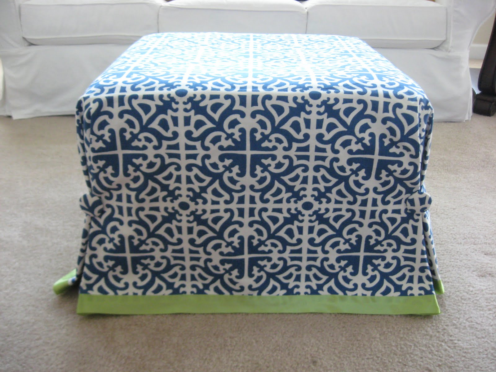 Large Ottoman Slipcover Home Furniture Design