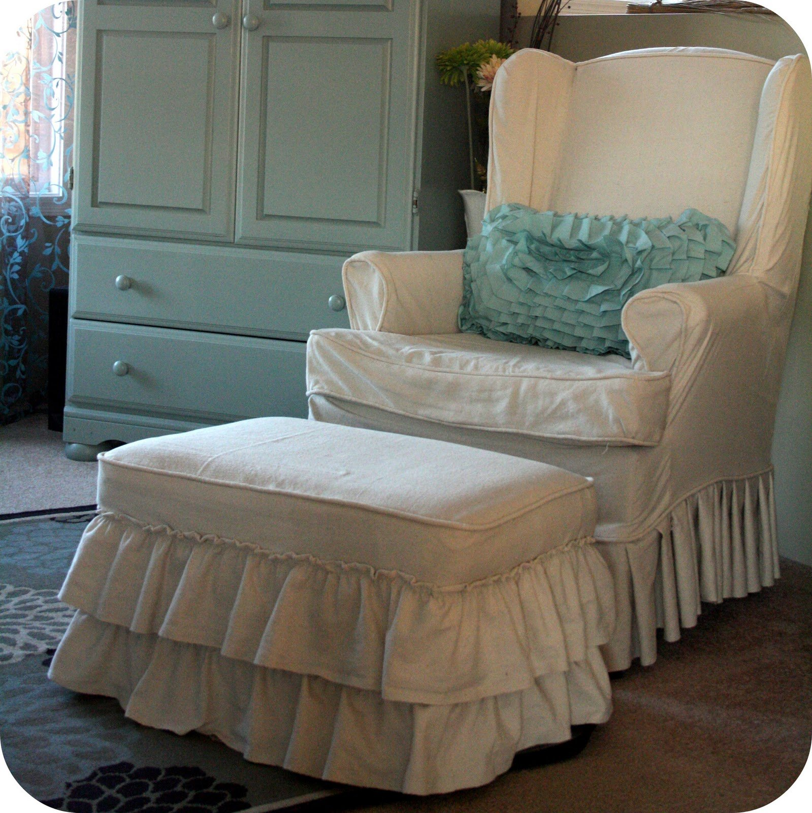 Slipcovers For Chairs And Ottomans Home Furniture Design