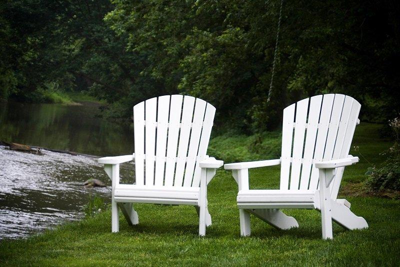 White Adirondack Chairs Home Furniture Design