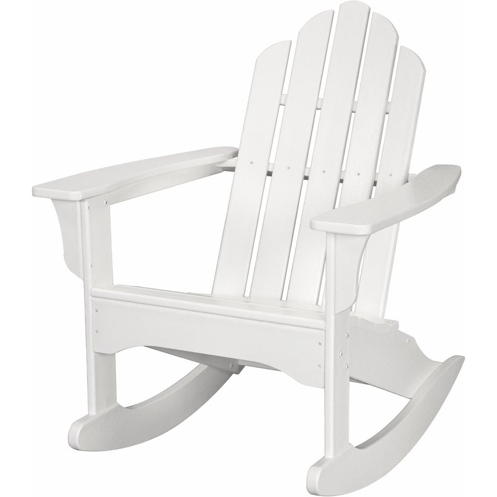White Adirondack Rocking Chair Home Furniture Design
