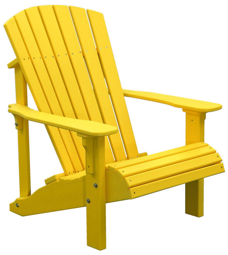yellow adirondack chair home furniture design