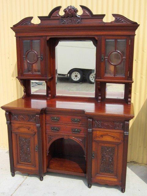 Antique Wooden Buffet ~ Antique buffet cabinet home furniture design