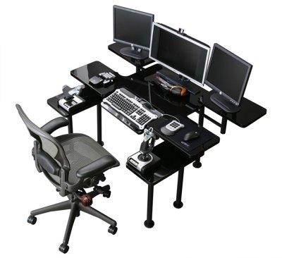 Atlantic Gaming Desk Black Home Furniture Design