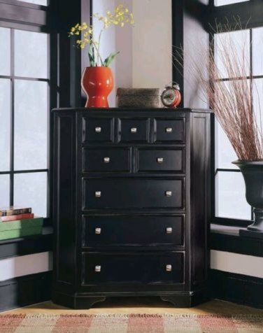 Black Corner Dresser Home Furniture Design