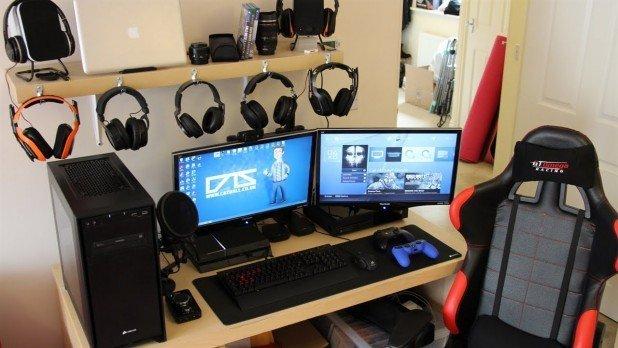 Black Gaming Desk Home Furniture Design