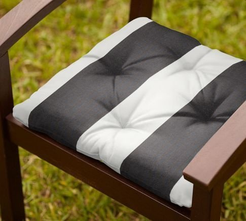 Black And White Striped Outdoor Cushions Home Furniture