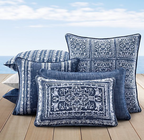 Blue Outdoor Cushions Home Furniture Design