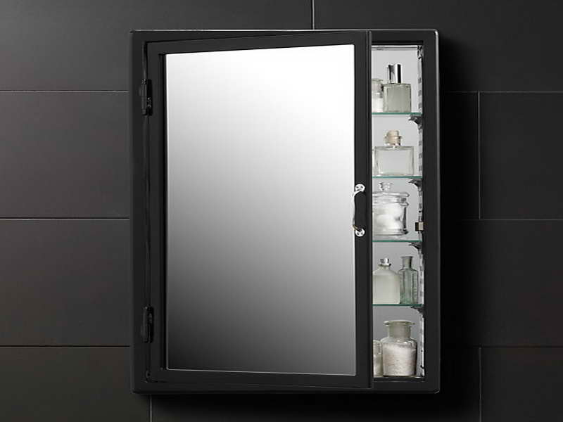 Corner bathroom medicine cabinet mirrors home furniture design for Black corner bathroom cabinet