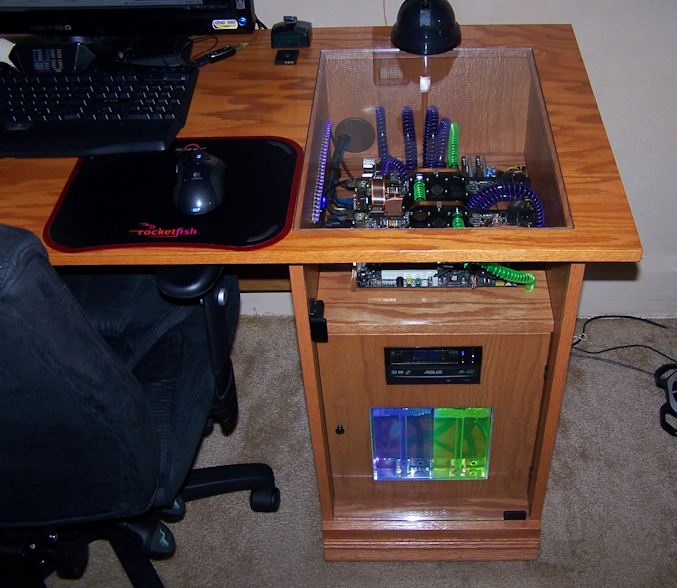 desk piece of writing which is arranged within custom gaming desk