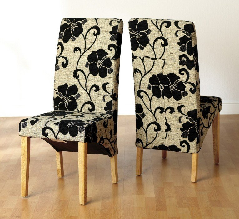 Fabric dining chairs for sale home furniture design for Fabric dining room chairs