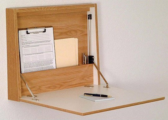 Fold down desk hardware home furniture design for Diy fold down desk