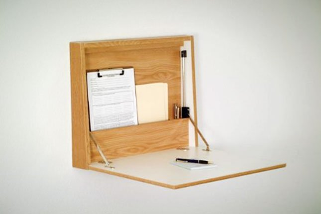 Fold down wall desk home furniture design for Fold down desk