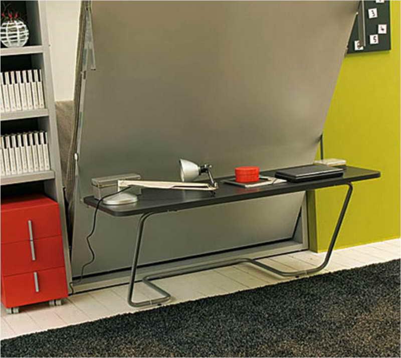 Folding bed desk home furniture design for Portable bed ideas