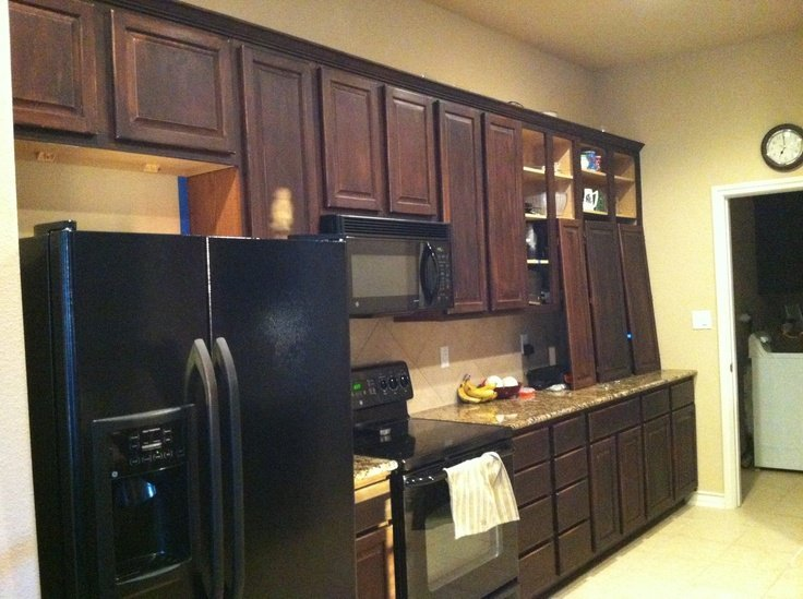General finishes java gel stain kitchen cabinets home for Can you paint non wood kitchen cabinets