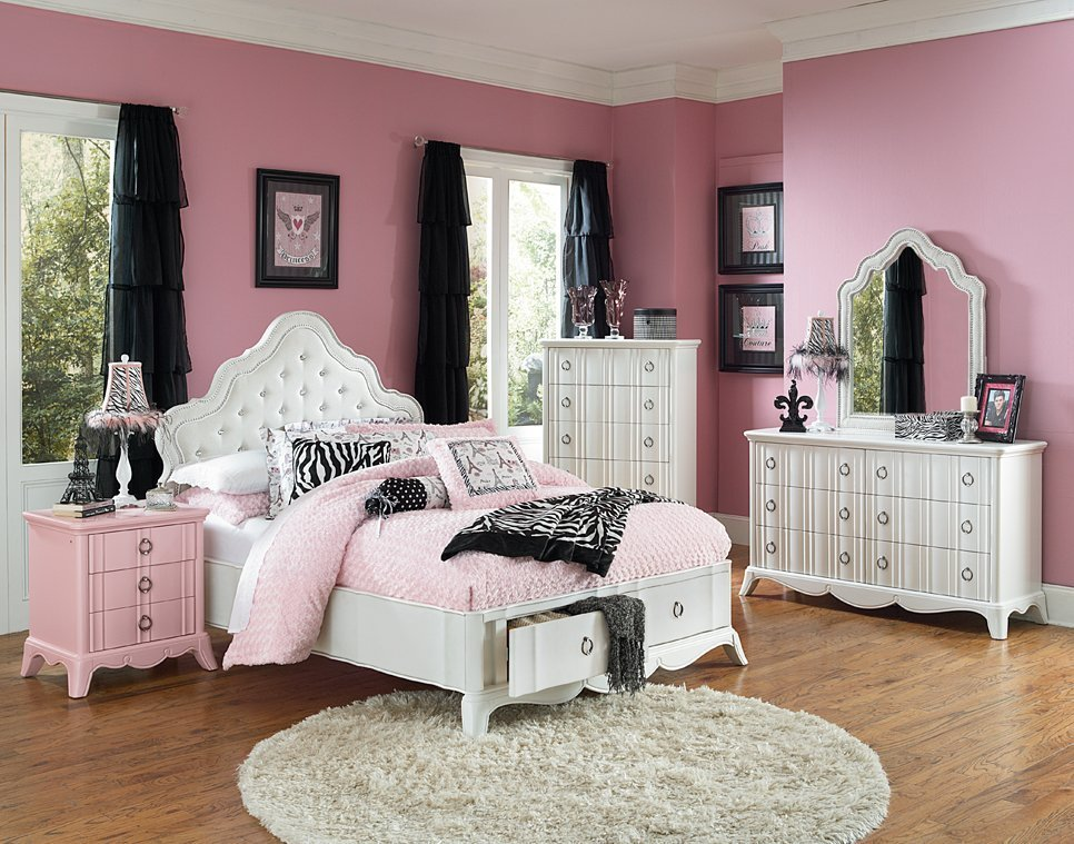 Girls full size bedroom sets home furniture design for Full bedroom furniture sets