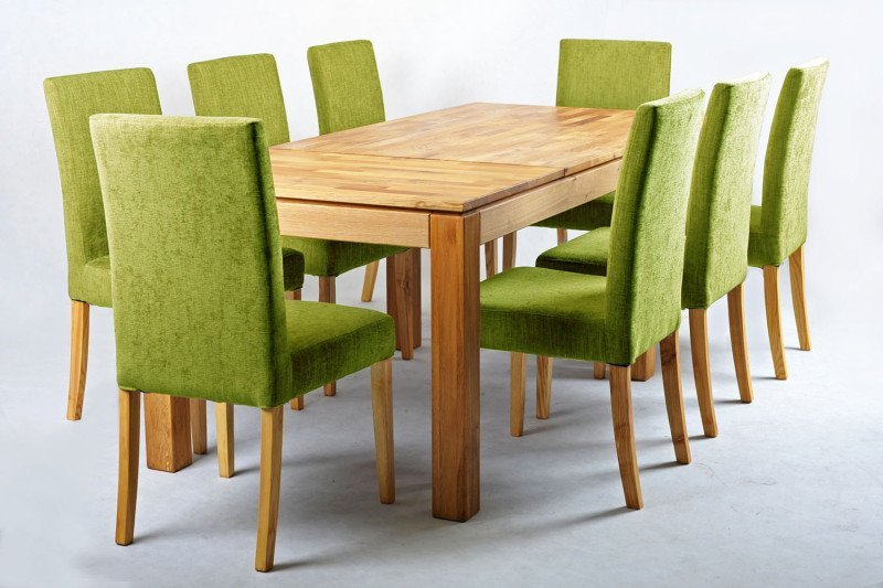 Green Fabric Dining Chairs Home Furniture Design