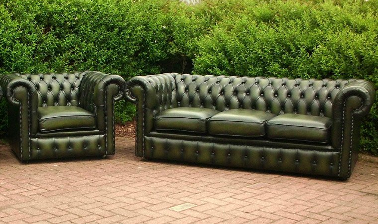 green leather chesterfield sofa home furniture design. Black Bedroom Furniture Sets. Home Design Ideas