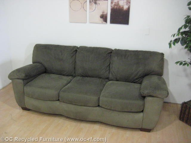 Green Microfiber Sofa Home Furniture Design