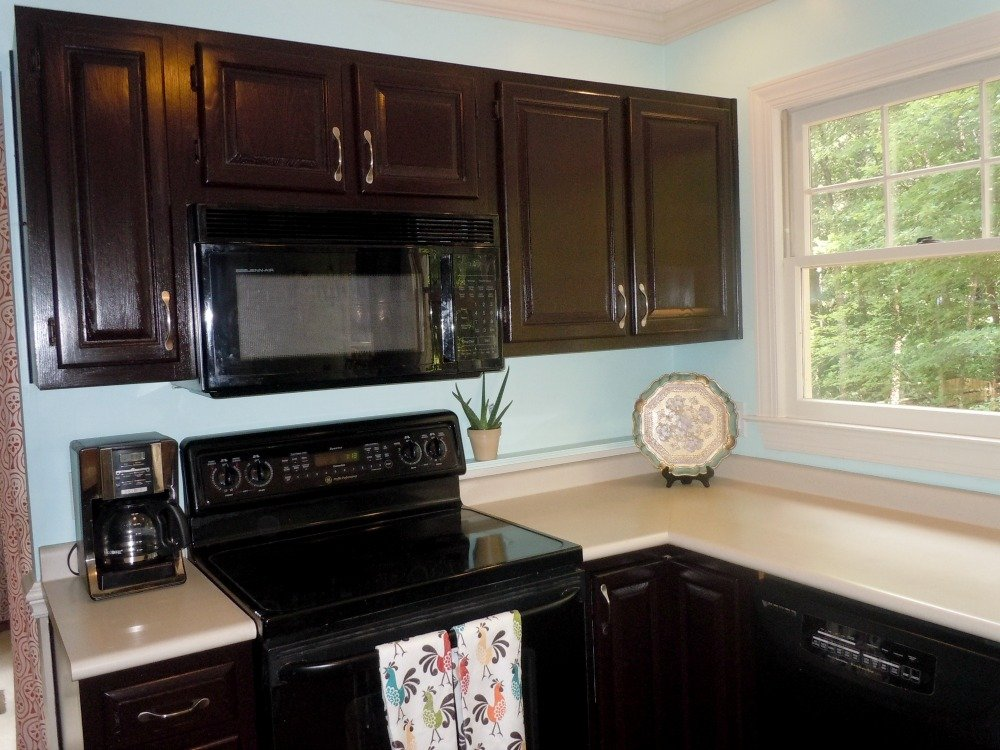 How to gel stain kitchen cabinets home furniture design for Staining kitchen cabinets