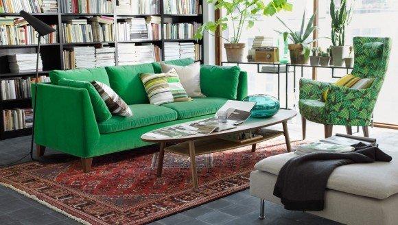 Ikea Green Sofa Home Furniture Design