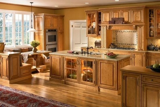 Kitchen cabinet stain ideas home furniture design for Can you paint non wood kitchen cabinets