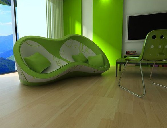 lime green sofa home furniture design. Black Bedroom Furniture Sets. Home Design Ideas