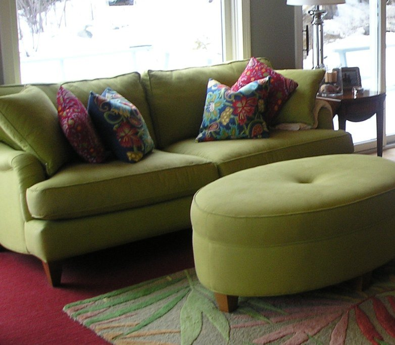 Olive Green Sofa Home Furniture Design
