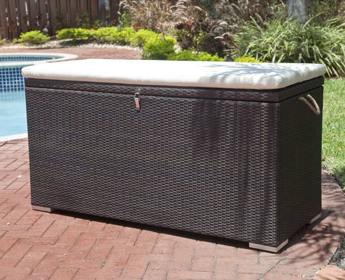 Outdoor cushion storage box home furniture design for Storage for outdoor patio cushions