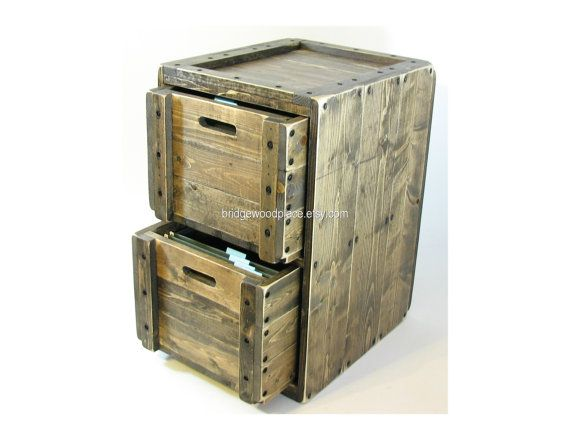 Reclaimed Wood File Cabinet Home Furniture Design