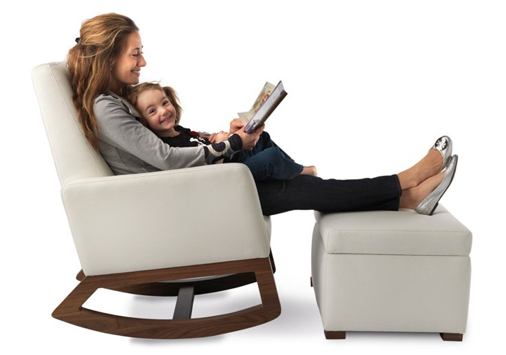 Rocking Chair With Ottoman For Nursery Home Furniture Design