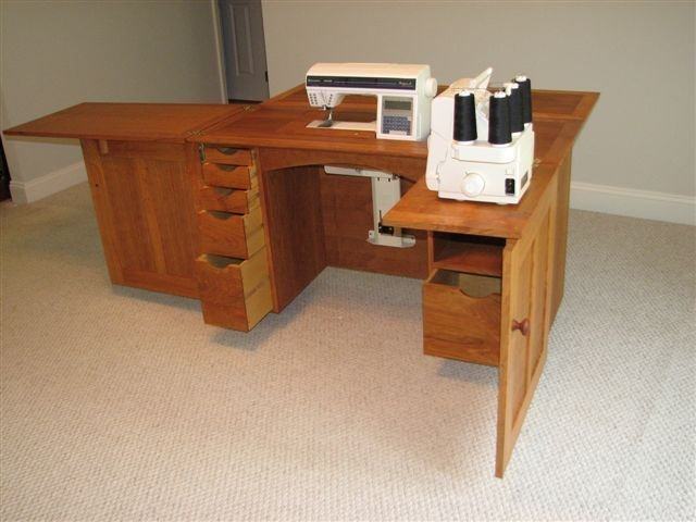 plans for sewing machine cabinet