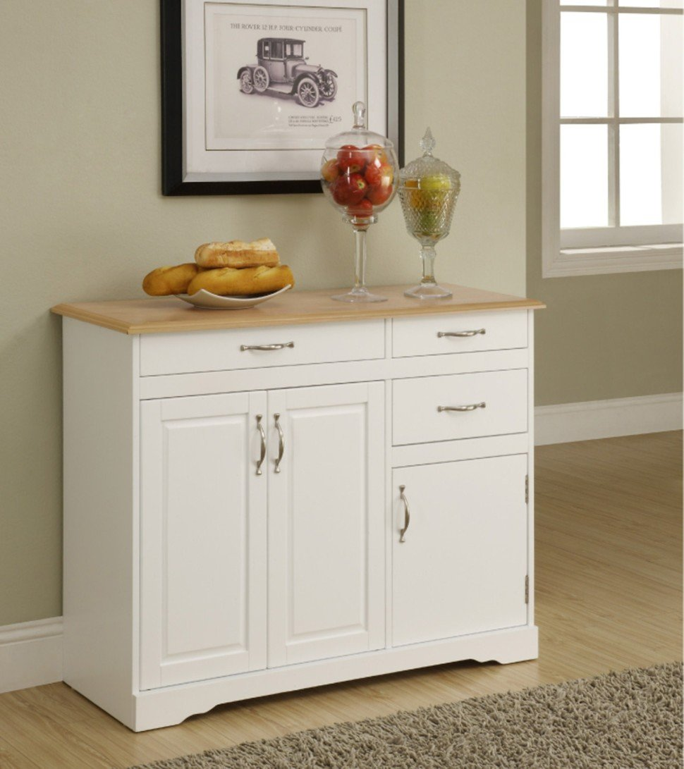 White Kitchen Buffet: Small White Kitchen Buffet Cabinet
