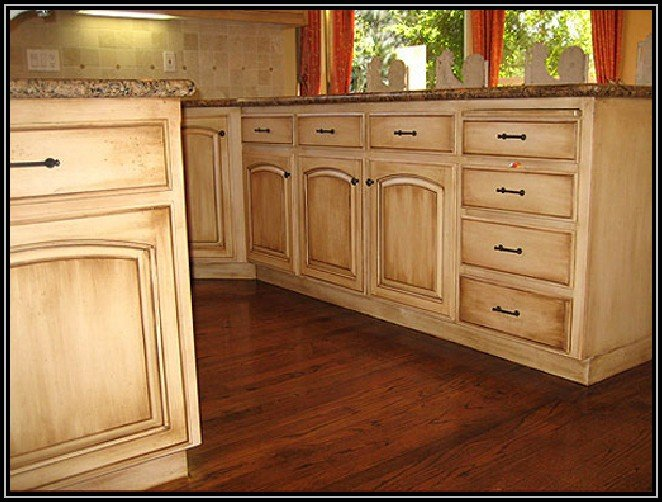 Painting Stained Kitchen Cabinets Without Sanding