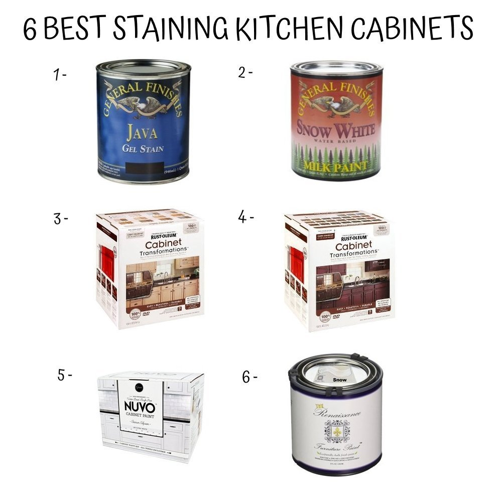 Staining Kitchen Cabinets No Waste New Taste Home Furniture Design