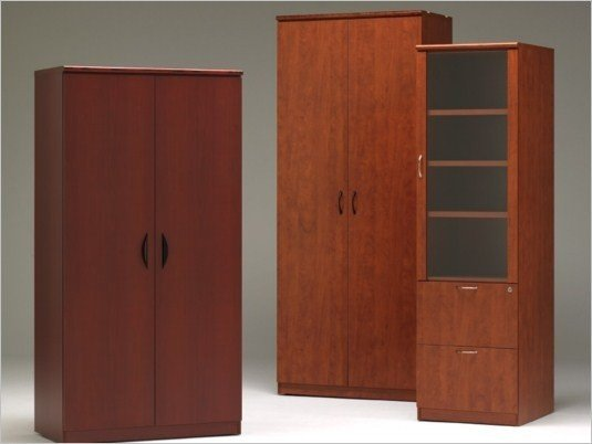 Wooden Storage Cabinets ~ Tall wood storage cabinet with doors home furniture design