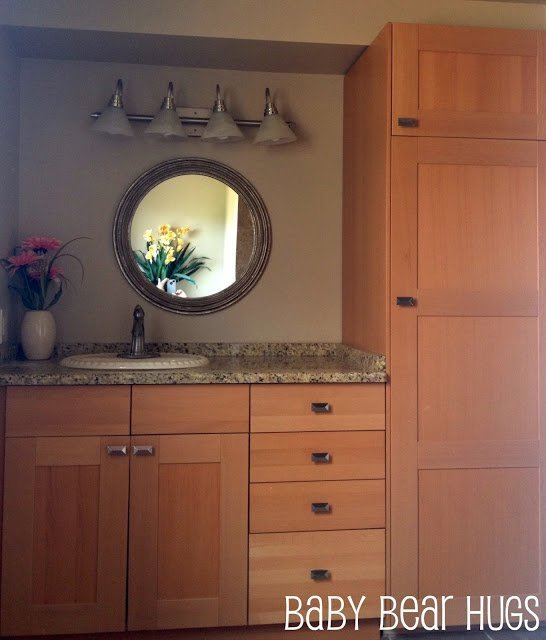 Using kitchen cabinets in bathroom home furniture design - Using kitchen cabinets for bathroom vanity ...