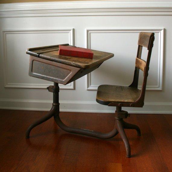 Vintage childrens school desk home furniture design for School desks for home