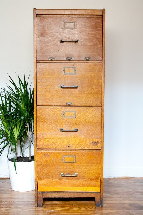 Vintage Wooden Cabinets ~ Vintage wood file cabinet home furniture design