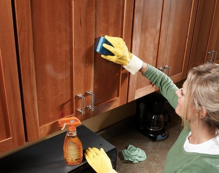 What to use to clean kitchen cabinets home furniture design for Best way to wash kitchen cabinets