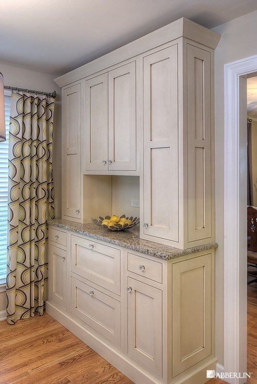 White stained kitchen cabinets home furniture design for Can you paint non wood kitchen cabinets