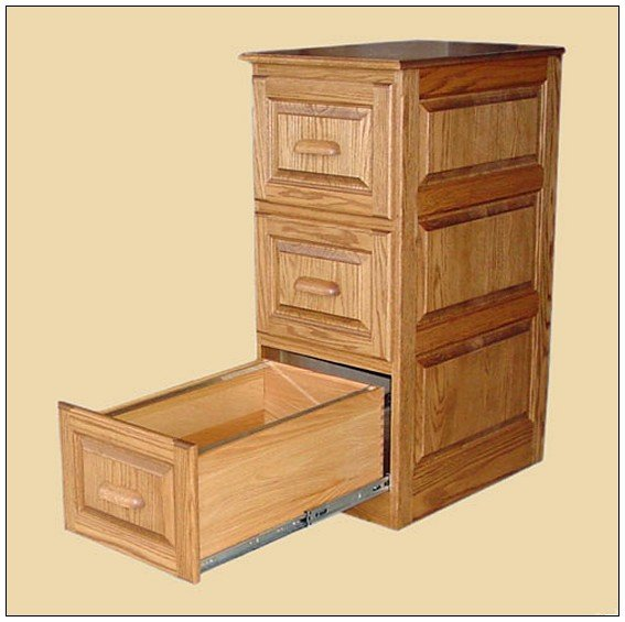 Wood File Cabinet With Lock Home Furniture Design