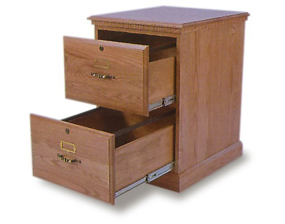 Wood Filing Cabinet 2 Drawer Home Furniture Design
