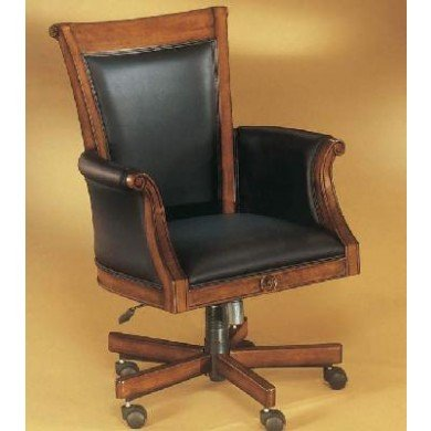 wood and leather office chair home furniture design. Black Bedroom Furniture Sets. Home Design Ideas