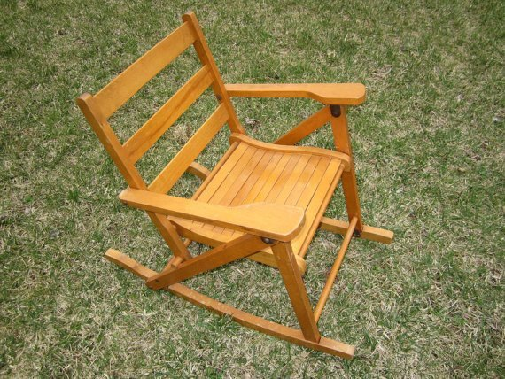 Wooden Folding Rocking Chair - Home Furniture Design