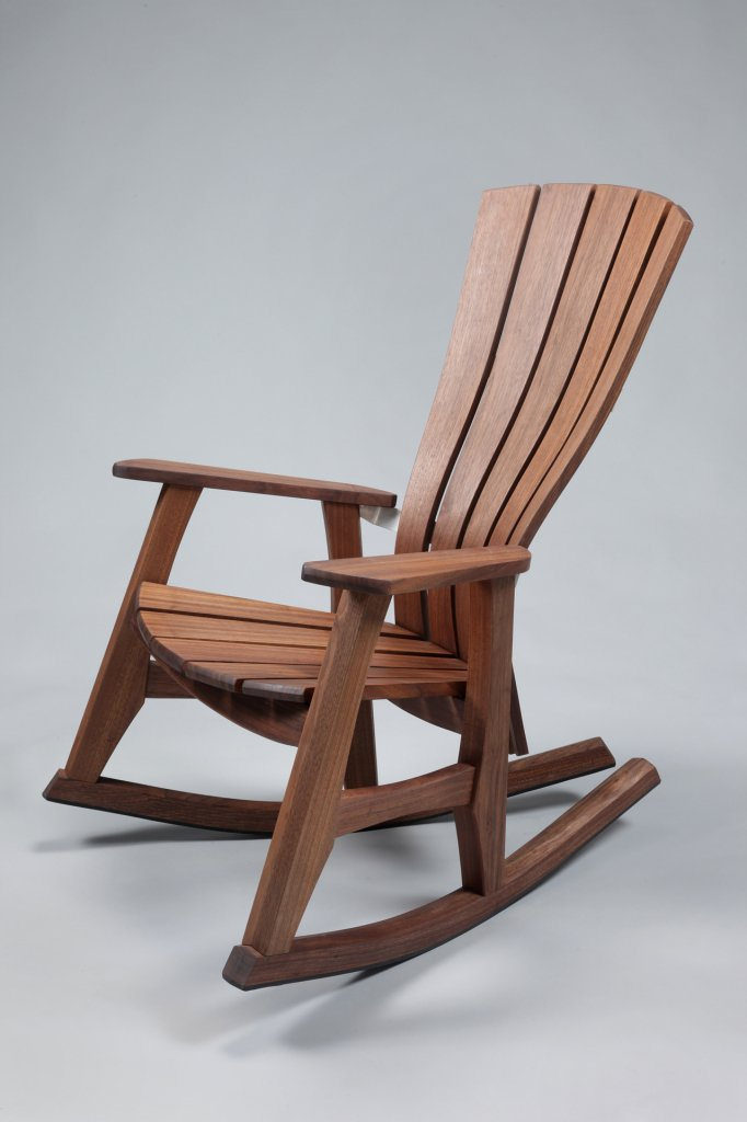 Wooden rocking chair reminiscent of the past in