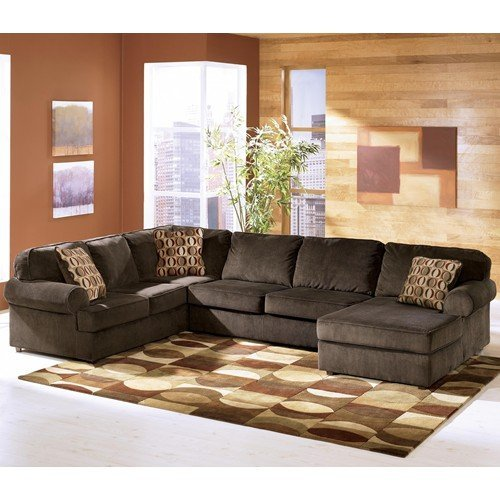 3 piece sectional sofa with chaise home furniture design for Ashley brown sofa chaise