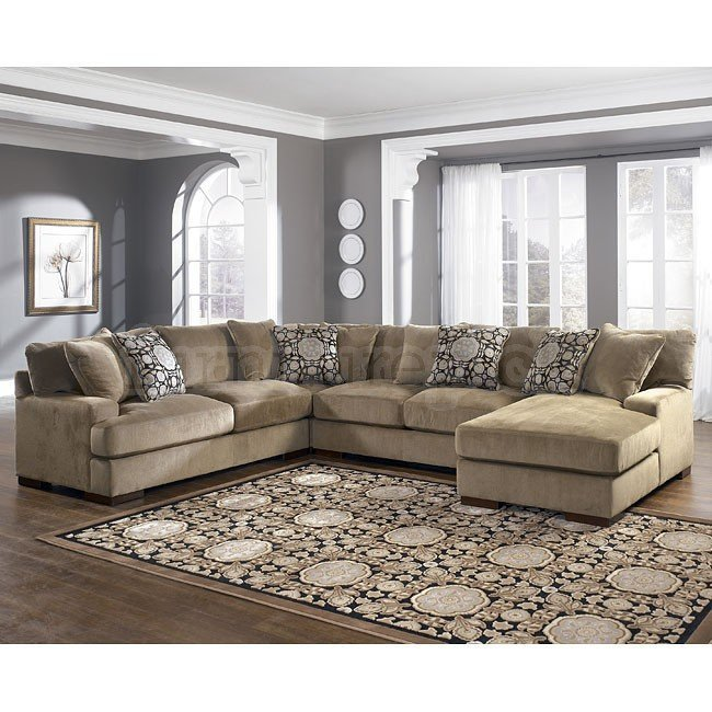 4 piece sectional sofa with chaise home furniture design for Ashley sectionals with chaise