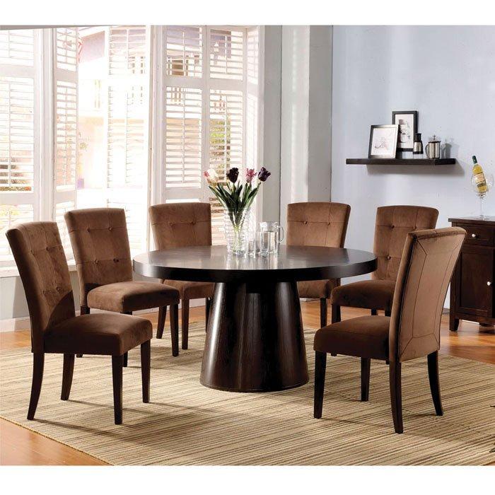 7 piece round dining room set home furniture design