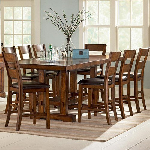 9 piece counter height dining room sets home furniture for Dining room furniture 9 piece